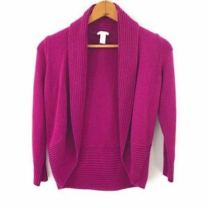 Chicos Magenta Pink Womens Open Long Sweater